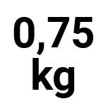 0,75 kg